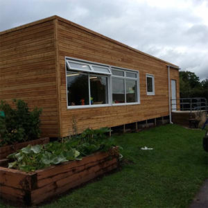 Timber Cladding on a building