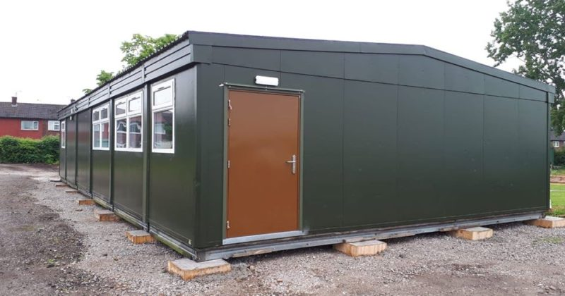 Exterior shot of a multi-bay office unit