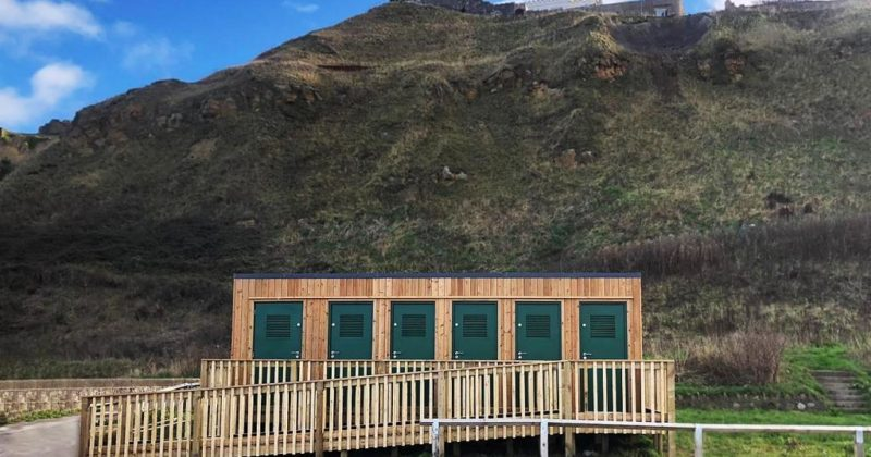 Timber clad changing block in Scarborough